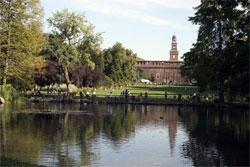 Uitrusten in groen Milaan