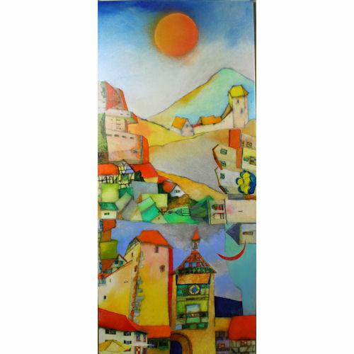 Vrolijke Italië schilderijen van Susan Schildkamp