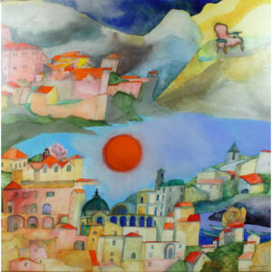 Vrolijke Italië schilderijen van Susan Schildkamp Italie